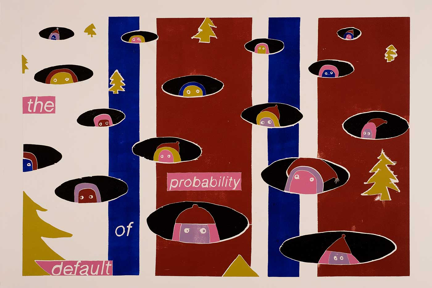 The Probability of Default<br /> Tresnitt <br /> 90 x 60 cm